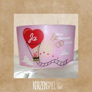 Hochzeitskerze Ballon
