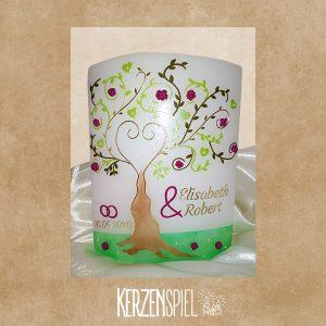Hochzeitskerze Herzbaum