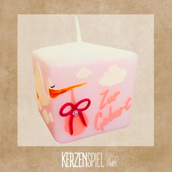 Kerze Zur Geburt Mädchen