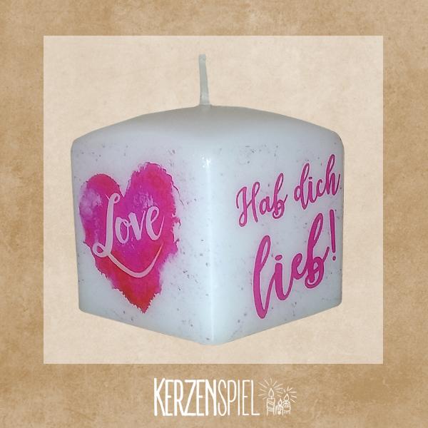 Geschenkkerze Hab dich lieb