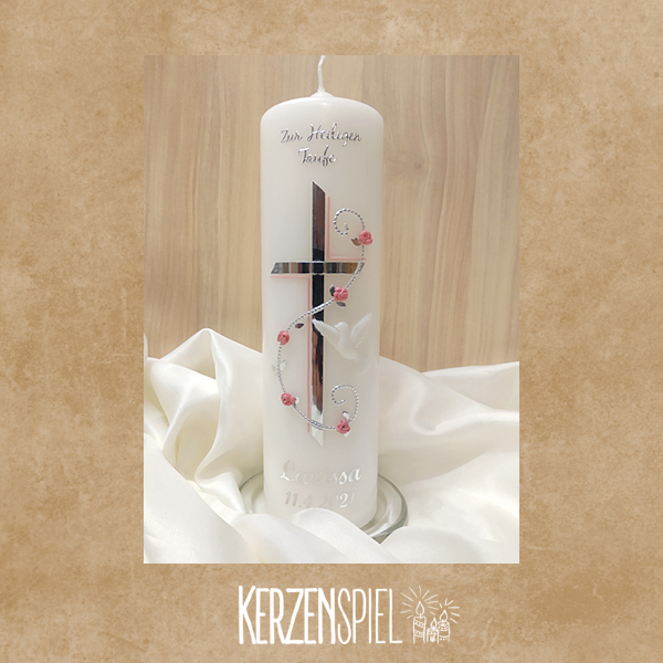 Tischkerze Ranke-Kreuz