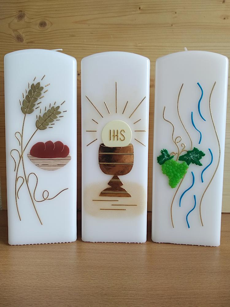Kerzen zur Erstkommunion